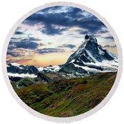 The Matterhorn Round Beach Towel