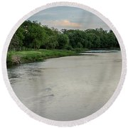 The Maumee River Round Beach Towel