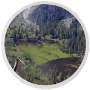 The Meadow From Four Mile Trail Round Beach Towel