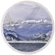 The Mediterranean Coast Round Beach Towel