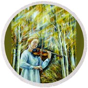 The Melody Of Autumn Round Beach Towel
