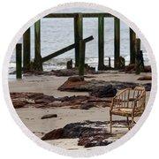 The Melrose Chair Round Beach Towel