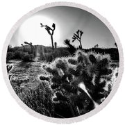 Merciless, Black And White Round Beach Towel