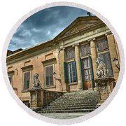 The Meridian Palace In The Pitti Palace Round Beach Towel