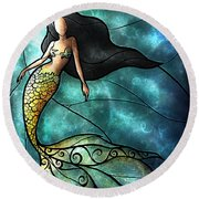 The Mermaid Round Beach Towel