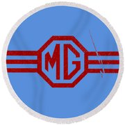 The Mg Sign Round Beach Towel