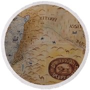 Round Beach Towel featuring the photograph The Middle East by Mae Wertz