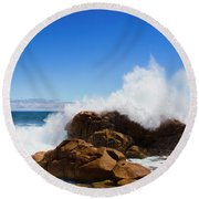 The Might Of The Ocean Round Beach Towel