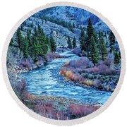 The Mighty Truckee Round Beach Towel