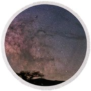 The Milky Way Core Round Beach Towel