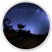 The Milky Way Trail Round Beach Towel by Mark Andrew Thomas