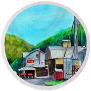 The Mill At Shade Gap II Round Beach Towel