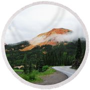 The Million Dollar Highway To Ouray Round Beach Towel