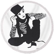 The Mime Round Beach Towel