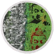 Round Beach Towel featuring the painting The Mind Is Everything by Jayime Jean