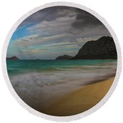 Round Beach Towel featuring the photograph The Mind's Eye by Mitch Shindelbower