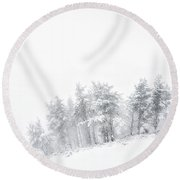 The Minimal Forest Round Beach Towel