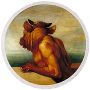 The Minotaur Tate Britain Round Beach Towel