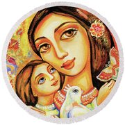 The Miracle Of Love Round Beach Towel