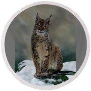The Missing Lynx Round Beach Towel