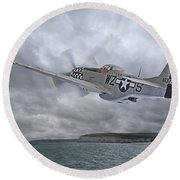 The Mission - P51 Over Dover Round Beach Towel