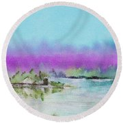 The Mist Round Beach Towel