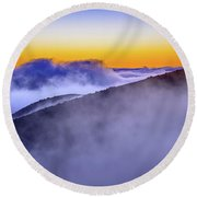 The Mists Of Cloudfall Round Beach Towel