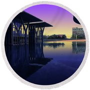 The Modern, Fort Worth, Tx Round Beach Towel by Ricardo J Ruiz de Porras