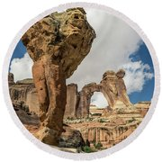 The Molar And Angel Arch Round Beach Towel
