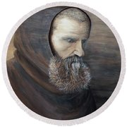 The Monk Round Beach Towel by Judy Kirouac
