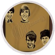 The Monkees  Round Beach Towel