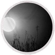 The Moon And The Stars Round Beach Towel