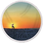 The Morning Watchtower Round Beach Towel