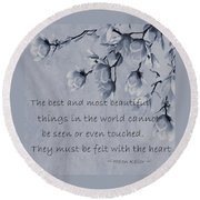 Round Beach Towel featuring the mixed media The Most Beautiful Things In The World by Movie Poster Prints