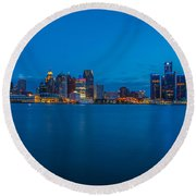 The Motor City  Round Beach Towel