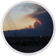 The Mount Charleston Fire Round Beach Towel