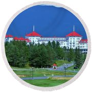 Round Beach Towel featuring the photograph The Mount Washington Hotel by Barbara S Nickerson