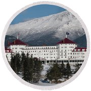 The Mount Washington Hotel Round Beach Towel
