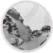 The Mountain Abyss Round Beach Towel