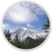 The Mountain  Mt Rainier  Washington Round Beach Towel