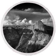 The Mountains Are Calling... Round Beach Towel