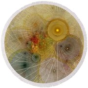 The Mourning Of Persephone - Fractal Art Round Beach Towel