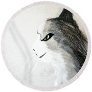 The Mouser Round Beach Towel