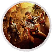 The Mummy Tomb Of The Dragon Emperor 2008 Round Beach Towel