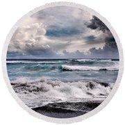 The Music Of Light Round Beach Towel by Sharon Mau