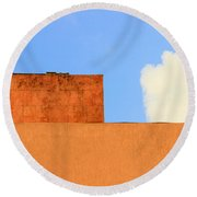 The Muted Cloud Round Beach Towel by Prakash Ghai