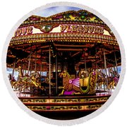 Round Beach Towel featuring the photograph The Mystical Dragon Chariot by Chris Lord