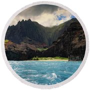The Napali Coast Round Beach Towel