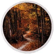 The Narrow Path Round Beach Towel