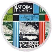 The National Limited Collage Round Beach Towel